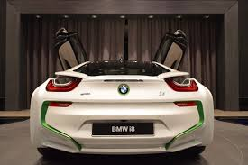 Bmw I8 Green - bmw i8 arrives in abu dhabi in white and java green