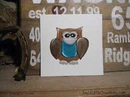 how to paint a whimsical owl just a little creativity