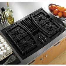 Gas Cooktop With Downdraft Vent Ge Profile Pgp989dnbb Series30