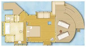 Beach Bungalow Floor Plans Overwater Bungalows Bora Bora Pearl Floor Plan Island Escapes
