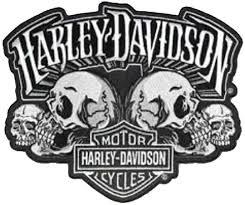 harley davidson large skull text patch