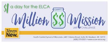 Challenge In Motion Caign For The Elca Million Dollar Mission Jar Challenge