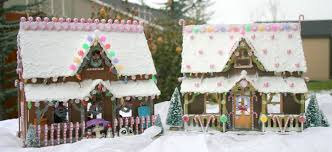 gingerbread house using a dollhouse puzzle kit from michaels