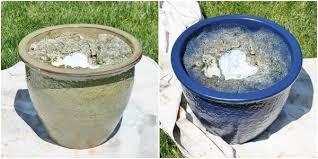 spray painting ceramic pots