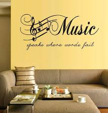 music note home decor musical wall art decor large size music sticker music note home