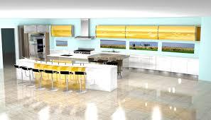 modern kitchen 3d rendering nick miller design