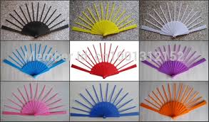 fan sticks free shipping 24pcs lot assorted colors plain solod color plastic