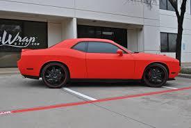 Dodge Challenger Colors - matte red challenger color change car wrap city