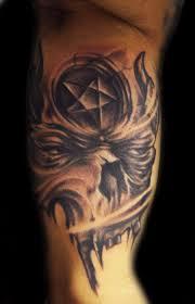 freehand skull pentagram by hatefulss on deviantart