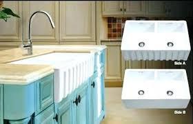 double basin apron front sink double farmhouse kitchen sink apron farmhouse kitchen sink full size