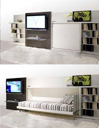 bedroom concealed bed design white cabinet u0026 bookcase nightstand