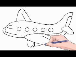 draw airplane easy step step
