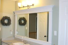 Framing An Existing Bathroom Mirror Ideas For Framing A Bathroom Mirror Kavitharia