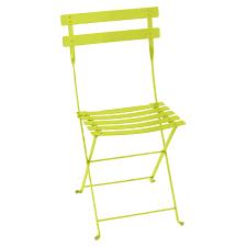 chaises fermob chaise pliante en métal bistro de fermob