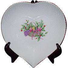 mikasa heart dish christmas spirit b2098 bone china narumi japan