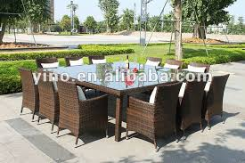 Rattan Patio Furniture Sale by Outdoor Rattan Garden Furniture With Dining Table And 12 Seats