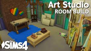 the sims 4 room build art studio youtube