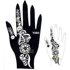 1pc exquisite large indian sheet sticker design flower henna