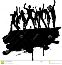party silhouette grunge party people stock vector image of friend group 44236190