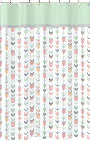 coral and gray shower curtain pink gray chevron curtains nanaz