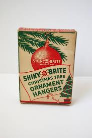 vintage box of shiny brite christmas tree ornament hooks the one