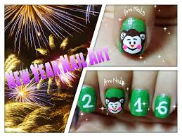 new year nail art tutorial cute monkey youtube