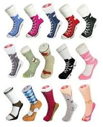 silly socks lace converse novelty sneakers trainer cotton joke
