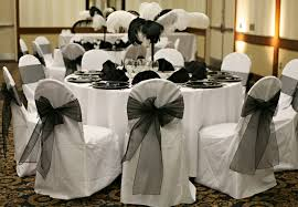 chair sashes for weddings outstanding black and white wedding reception the for chair