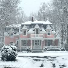 beautiful pink victorian house with curb appeal kellyelko com