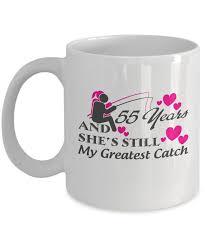 55th wedding anniversary 55th wedding anniversary mugs gift fishing felishirt