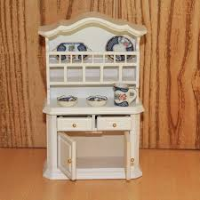 dollhouse furniture kitchen bowl plate cupboard miniature dollhouse furniture wood 1 12 scale