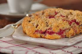 raspberry scones recipe joyofbaking com video recipe