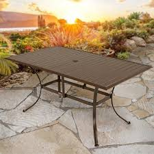 Patio Dining Table Amazon Com Panama Jack Outdoor Island Breeze Slatted Aluminum