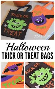 halloween trick or treat bags an easy diy idea