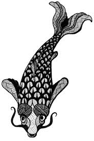 black and white koi fish drawing archives eclectic cycle