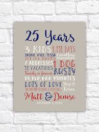25th wedding anniversary gifts 25th wedding anniversary gift paper canvas twenty fifth 10