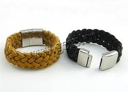 leather bracelet clasps images Cowhide bracelets with 316 stainless steel stainless steel jpg