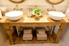 Reclaimed Wood Vanity Table Salvaged Wood Bathroom Vanity Design Ideas