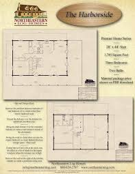 premier log home series basement plan