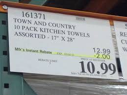costco sale chef u0027s pantry 10 pack kitchen towel set 10 99