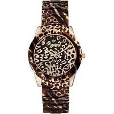 montre guess bracelet cuir images Ysora montre guess vixen en acier dor rose et imprim animal jpg