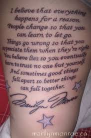 marilyn tattoos