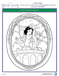 snow white and the seven dwarfs printable coloring pages