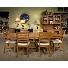 cosmopolitan aged cherry dining room 7 piece set double pedestal