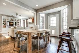 Open Plan Kitchen Family Room Ideas Kitchen Dining Table Ideas 8 Ways To Make A Small Sizzle Room