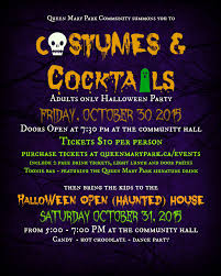 queen mary park community league haloween open haunted house