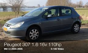 used peugeot 3007 peugeot 307 1 6 16v 110hp 0 100 km h youtube