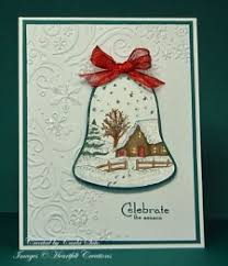 scenic christmas bell card 2 paperplay pinterest christmas