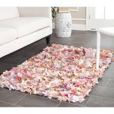 unique pink shaggy rug interior design and home inspiration