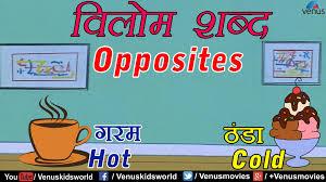 hindi lessons opposites youtube